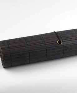 Productfoto van het bamboe rolgordijn donkerbruin