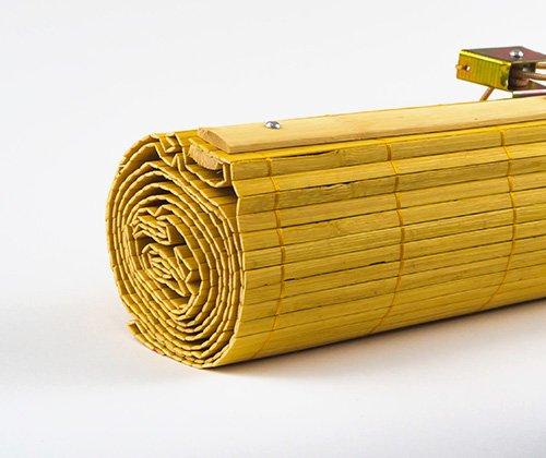 Bamboe vouwgordijn bamboe kleurig