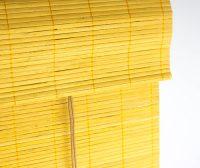 Bamboe vouwgordijn bamboe kleur detailfoto van de bovenkant