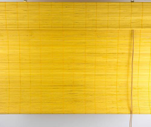 Bamboe vouwgordijn bamboe uitgevouwen