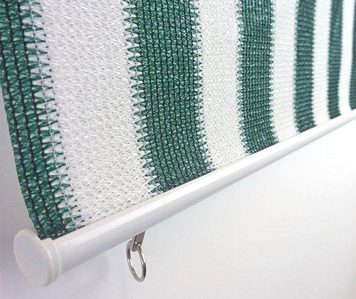 Haakjes van het buitenrolgordijn groen/wit