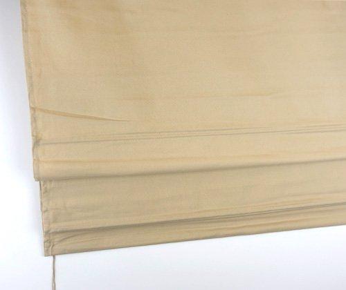Detailfoto van het vouwgordijn beige