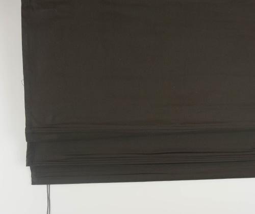 Detailfoto van het vouwgordijn bruin