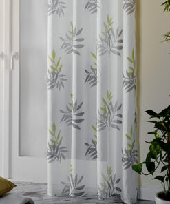 Lichtdoorlatend gordijn bamboe groen onderkant