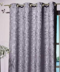 Ondoorzichtig hangend gordijn lennard grijs in kamer