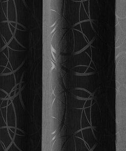 Detailfoto ondoorzichtig gordijn lennard zwart