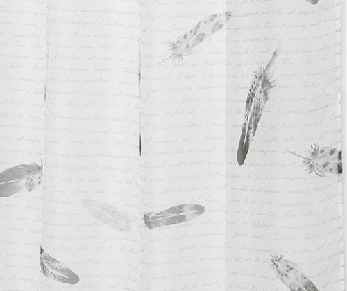 Wit veer met tekst detailfoto