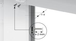 Voorbeeld voor monteren montageprofiel plisse met koord