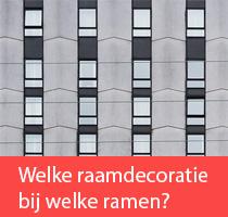 Welke raamdecoratie bij welk raam?